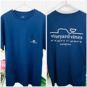 VINEYARD VINES Blue Short Sleeve Tee Shirt Unisex